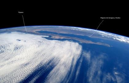 baja california y sonora y parte de sinaloa desde el espacio
