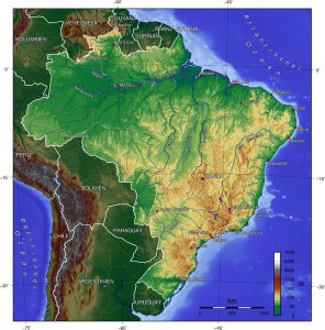 topographic map brazil